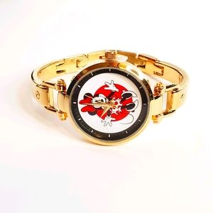 Disney Minnie Mouse Gold Alloy Bridle Watch
